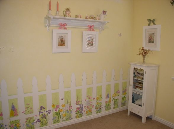 Little girl flower garden bedroom Girls Room Designs