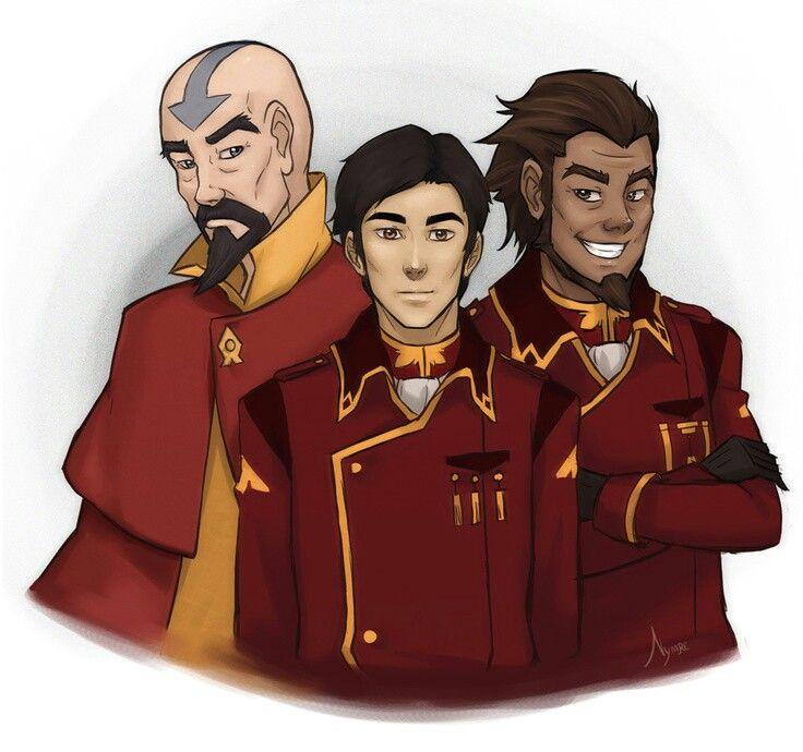Legend Of Korra- General Iroh II, Tenzin, And Bumi II