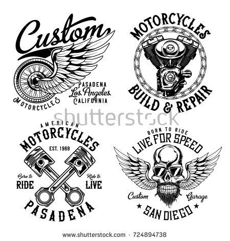 Set of vintage emblems, logos, badges, template with