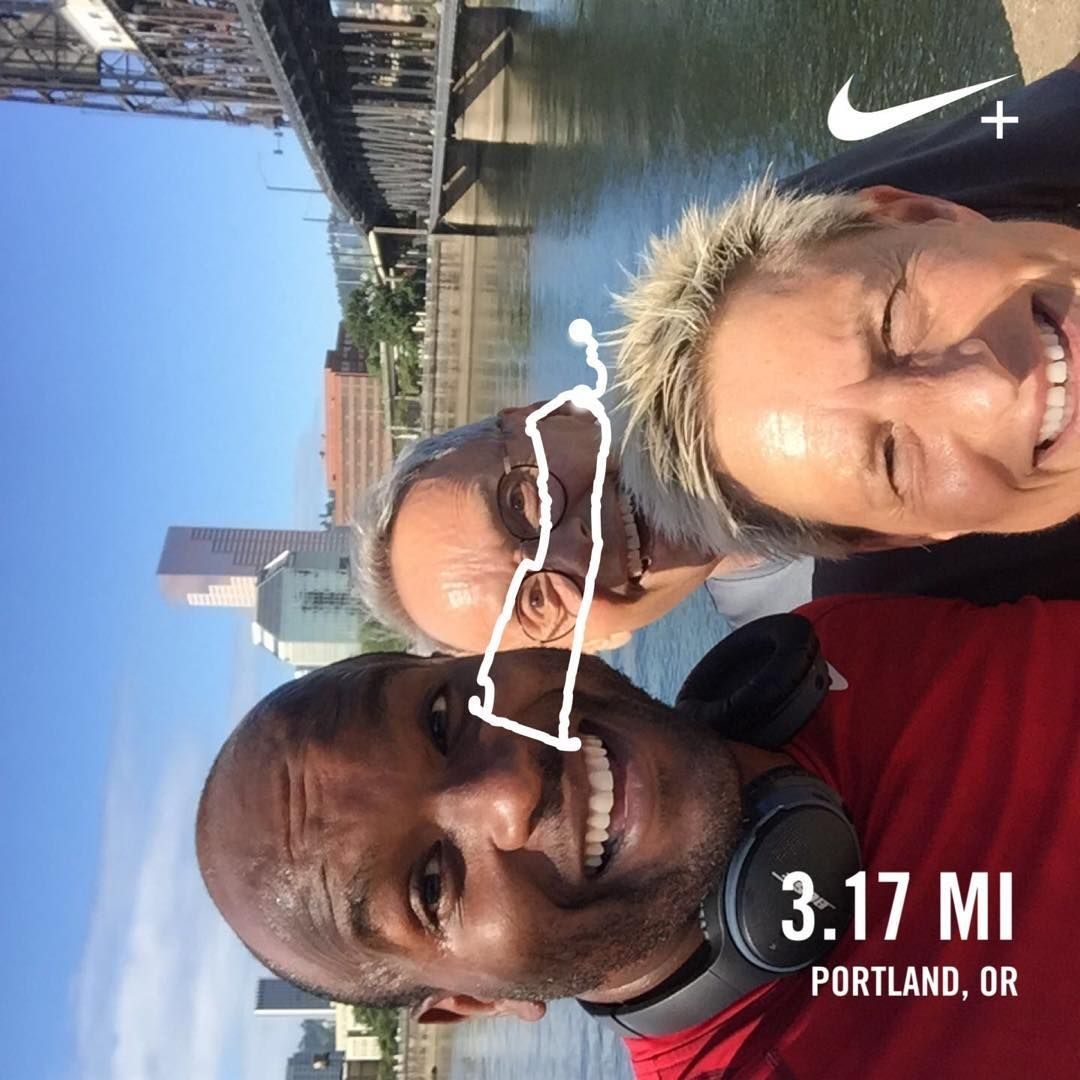 Impromptu solidarity run with our #hoodtocoast family. A shout out to our #blasianrunclub doing the#...