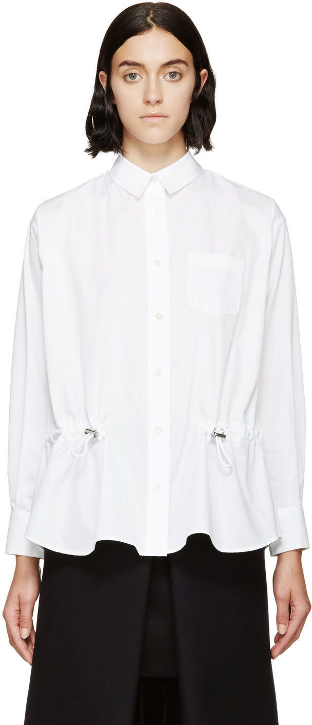 Sacai Luck White Drawstring Vented Shirt