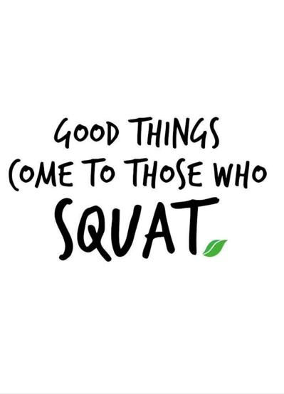 Good things come to those who squat! #motivation | Yoga ...