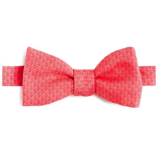 Vineyard Vines Whale Bow Tie ($55) ❤ liked on Polyvore featuring men's fashion, men's accessories, men's neckwear, bow ties and mai tai