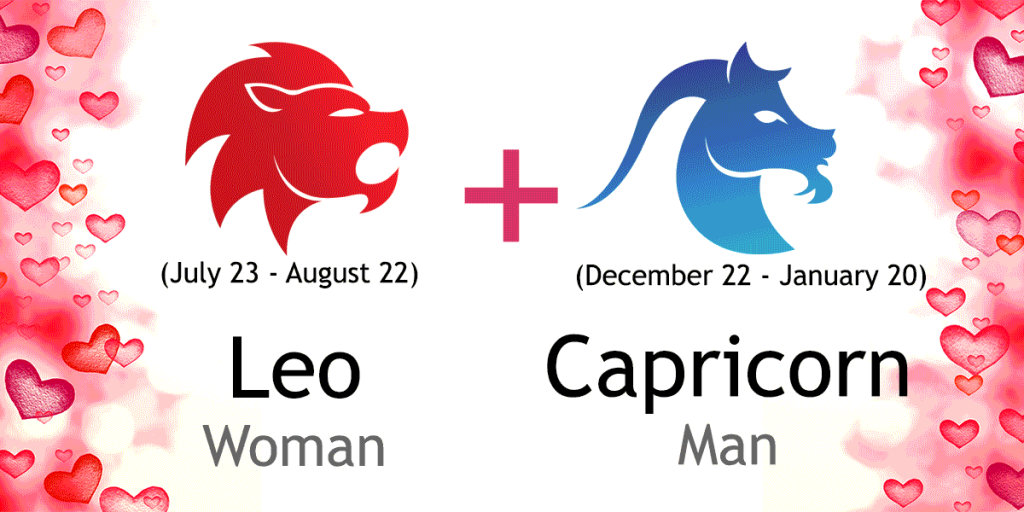 Love Match Compatibility Between Leo Woman And Capricorn Man Read About The Leo Female Love Relationship With Capricorn Male Leo Men Leo Women Capricorn Man