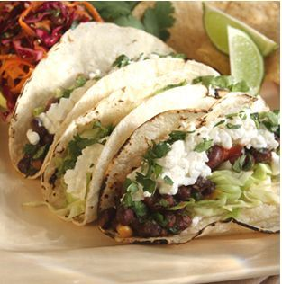 Black Bean Tacos  Recipe by CULINARYECLIPSE via @SparkPeople