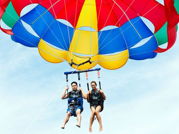 Fly In The Sky S Of Ft Lauderdale With Sun Life Water Sports Parasailing Fort