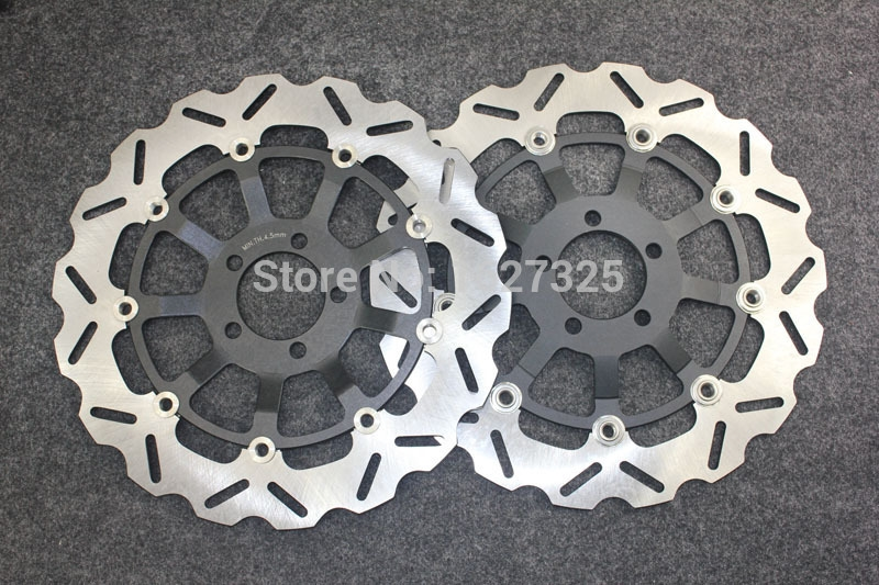 133.76$  Watch now - http://aliekm.worldwells.pw/go.php?t=32793144463 - Brand new Motorcycle Rear Brake Disc Rotors For KAWASAKI ZX9R (ZX 900 F1/F2) 2002-2004 Universel 133.76$