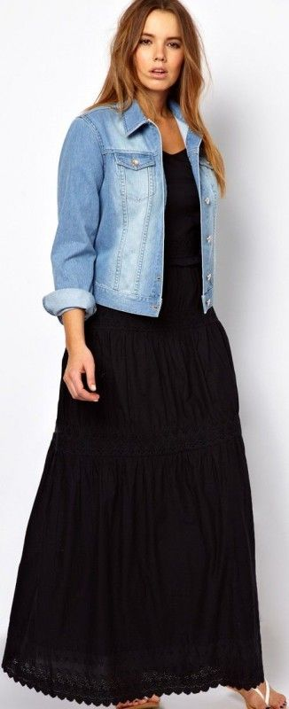 plus size jean jacket 5 best outfits - plussize-outfits | big