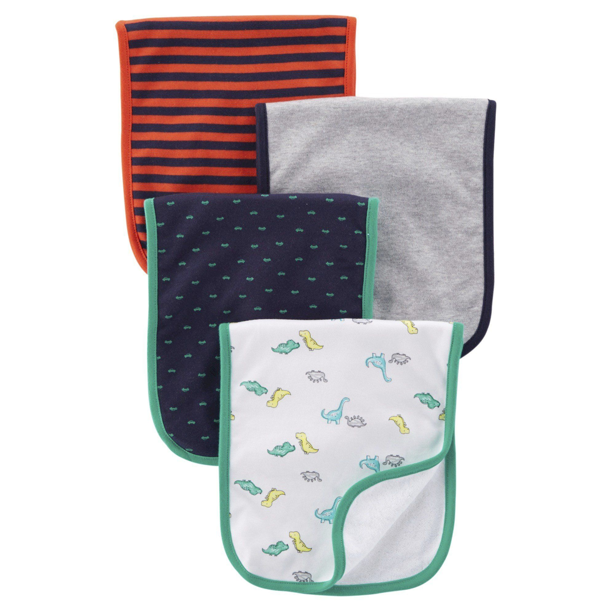 fcfadd29d Amazon.com: Just One You by Carter's - Baby 4 Pack Burp Cloth Set  (Dinosaurs): Clothing