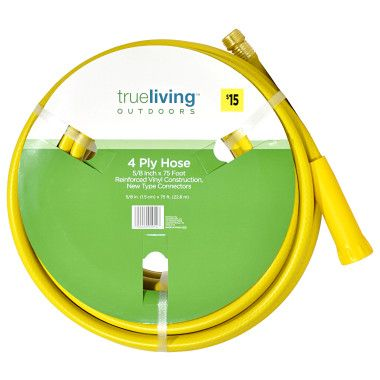 Trueliving 4 Ply Water Hose 5 8 034 X 75 39 Dollar General Water Hose Garden Care Dollar General