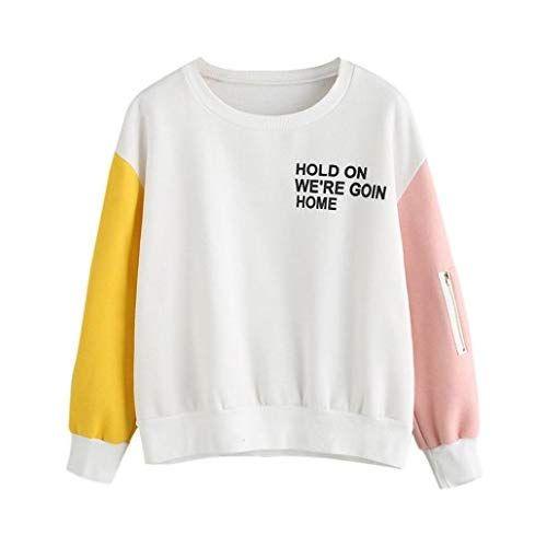 Amlaiworld Winter herbst bunt Flickwerk pulli damen warm sweatshirt mode  lose Bluse sport pullover tops ( 49782e5bf2