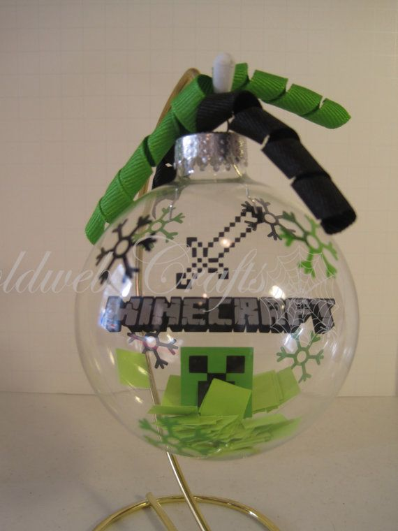 Christmas Minecraft Decorations.Minecraft Floating Glass Ball Christmas Ornament Trimming