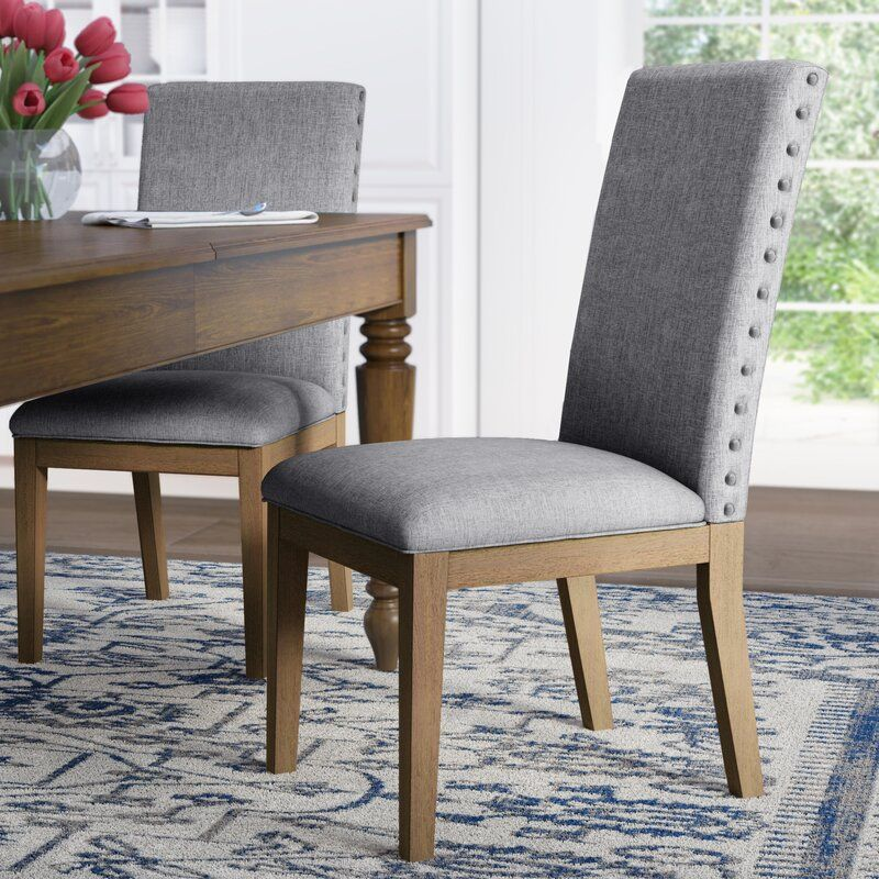 Awe Inspiring Irving Place Linen Nailhead Upholstered Dining Chair Bralicious Painted Fabric Chair Ideas Braliciousco