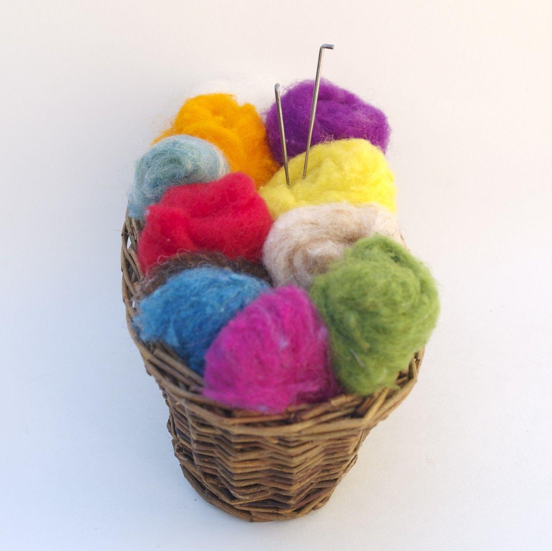 Needle felting kit beginner wool starter kit tools needles felting kit needle felt supplies rainbow wool yarn colors beginners diy do it yourself new solutioingenieria Images