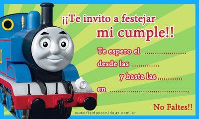 Invitación de Cumpleaños: Tren Thomas | Fiestas Infantiles