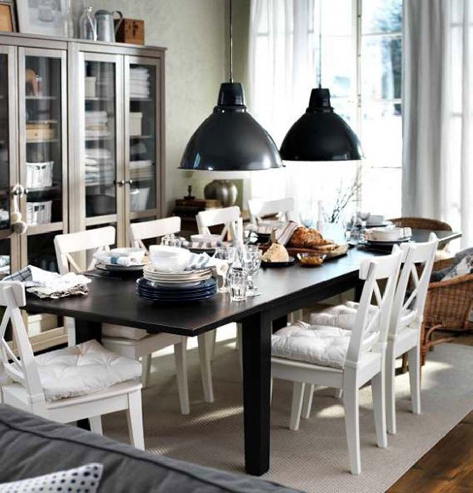 Black and White Dining Room Ideas for the Best Opposites: Dining ...