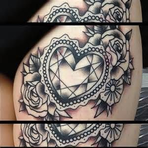 Diamond Heart Tattoo Bing Images Diamond Heart Tattoo Heart Tattoo Heart Tattoo Designs