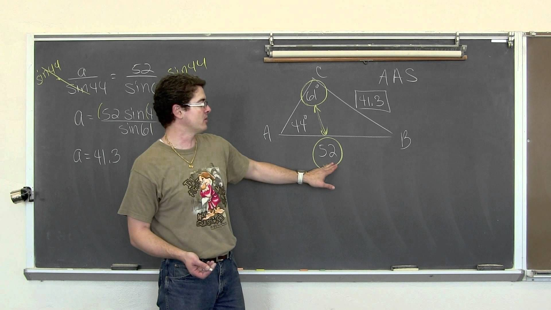 Oblique Triangles Law Of Sines