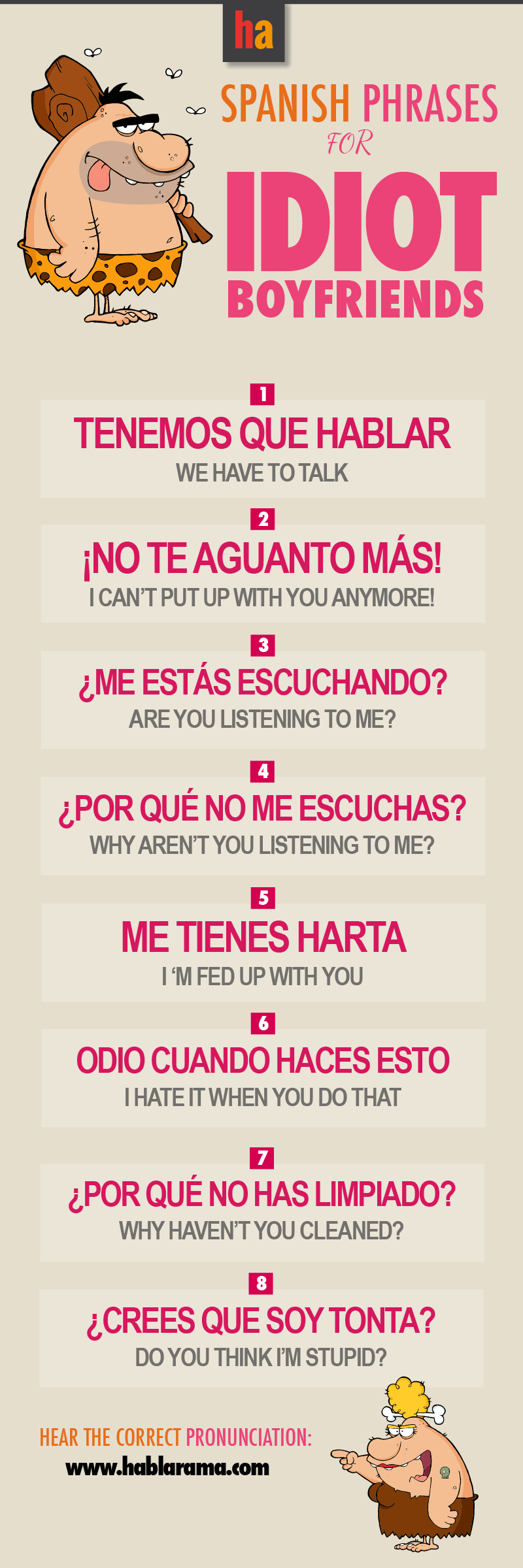Getting mad with your boyfriend -   How to speak spanish ...