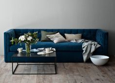 Image Result For Petrol Blue Velvet Sofa Conservatory Ideas