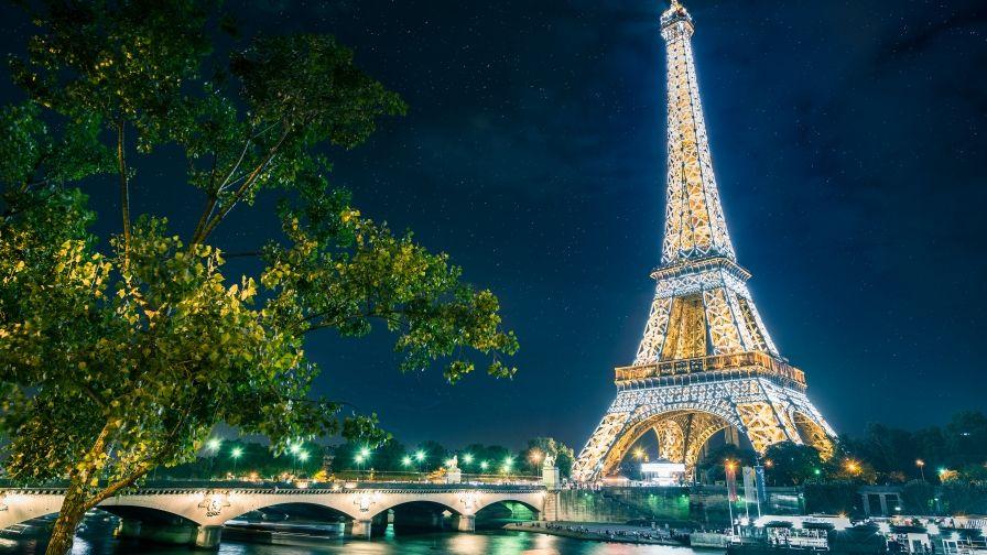 Paris Eiffel Tower Wallpaper Download High Resolution Eiffel Tower At Night Eiffel Tower Paris Eiffel Tower