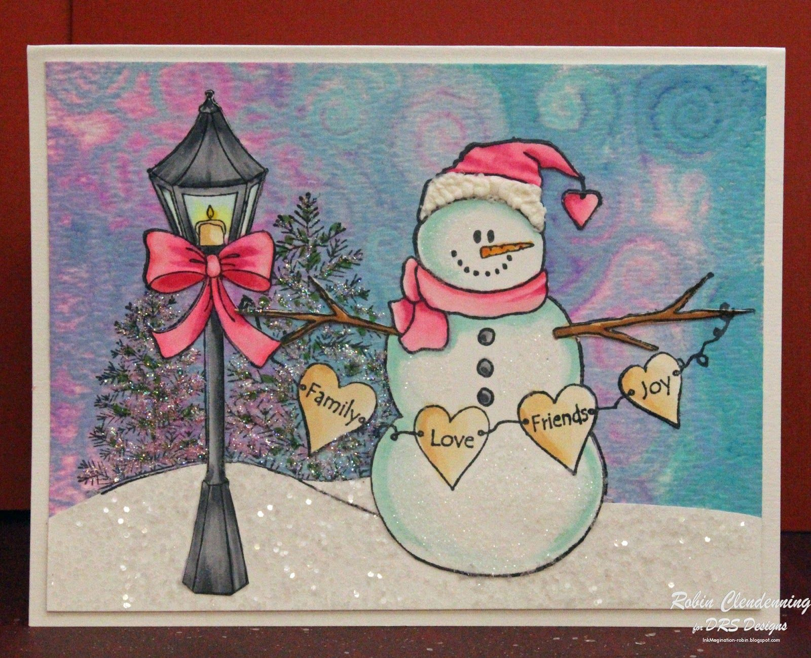 Good morning i have a fun snowman card today he is illuminated by