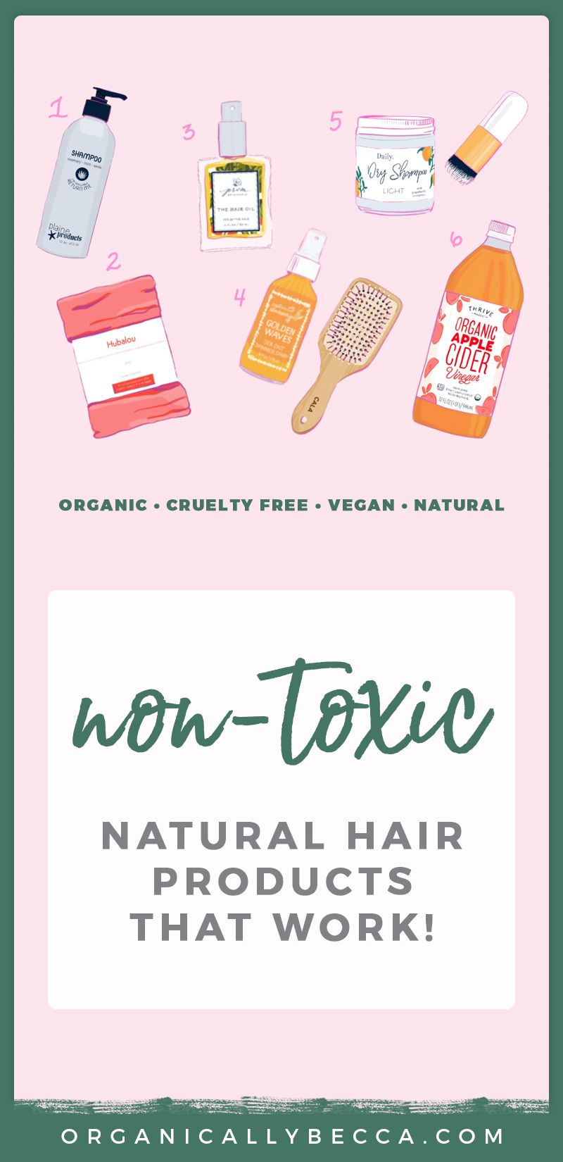 Non-Toxic Hair Products That Perform! #organichaircare
