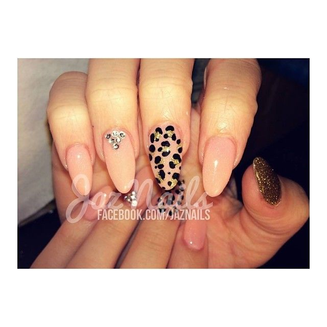 nude and leopard with rhinestones