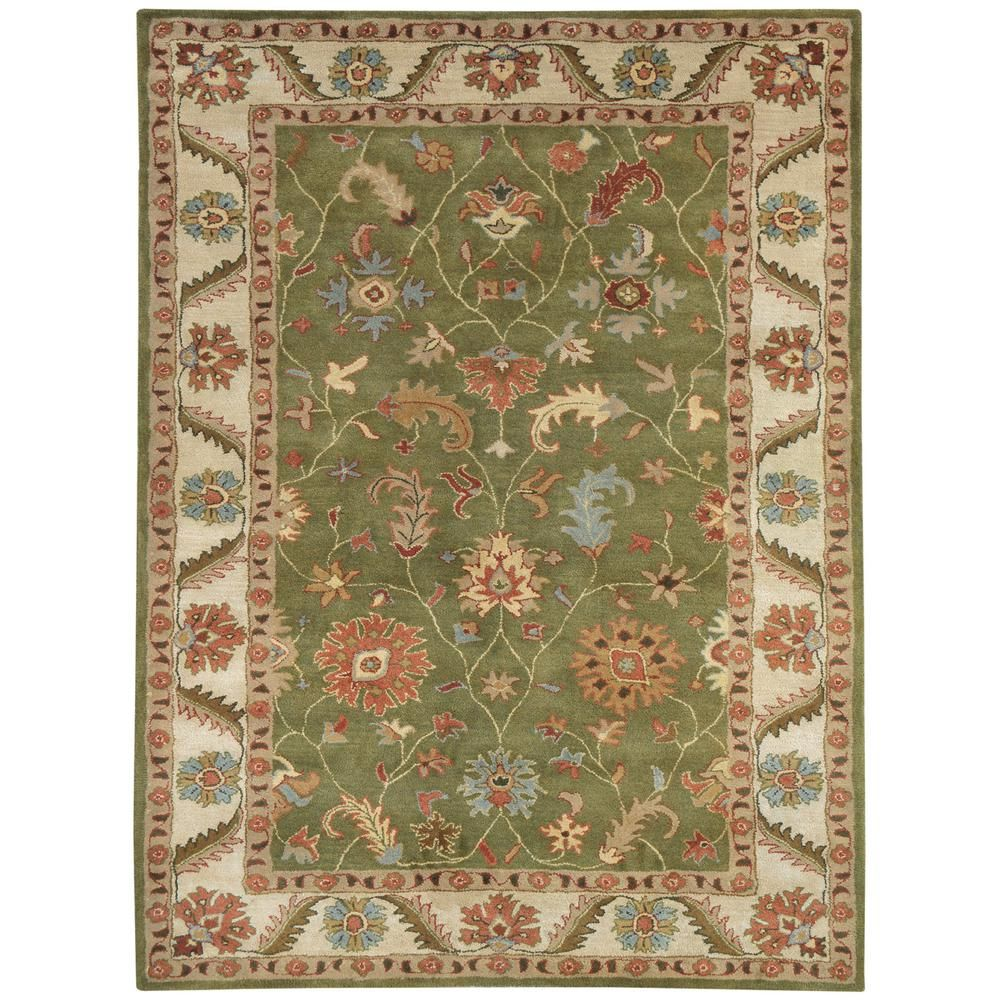 Oriental Rugs Grand Rapids: Dynamic Rugs Charisma Green/Ivory 5 Ft. X 8 Ft. Indoor
