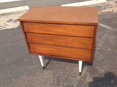 Mid Century Modern Danish Style Harmony House Chest Of Drawers Dresser 3  Drawer | EBay