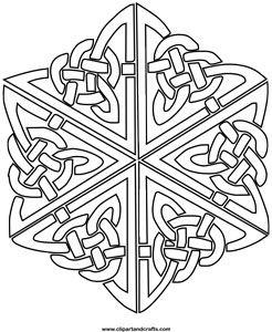 celtic kaleidoscope coloring page | Mandala coloring
