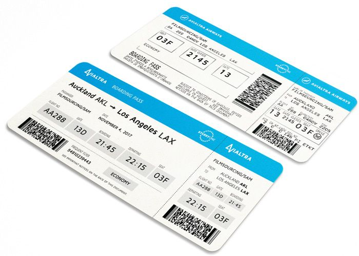 fake airline fake boarding pass for film \ TV Costumes and Props - fake document templates