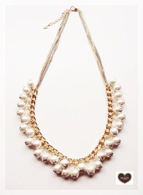 colar#pérolas#dourado+prata# #necklace