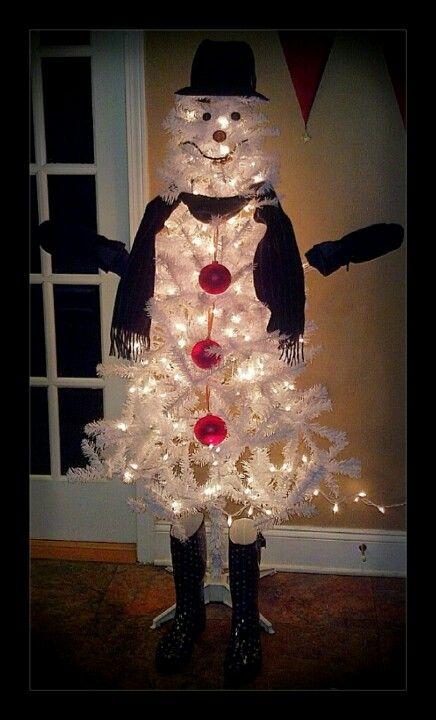 Snowman Christmas Tree. - Snowman Christmas Tree... Christmas Pinterest Snowman