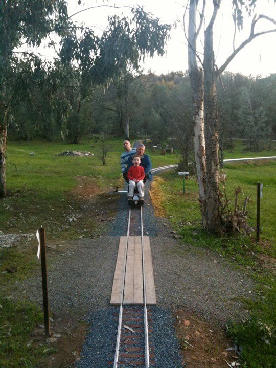 Train Ride in Grandpa's Backyard | Model trains, Model ...