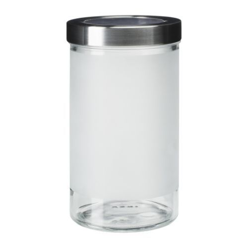 DROPPAR Jar with lid IKEA The transparent jar makes it easy to find ...