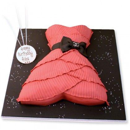 Cocktail Dress Cake