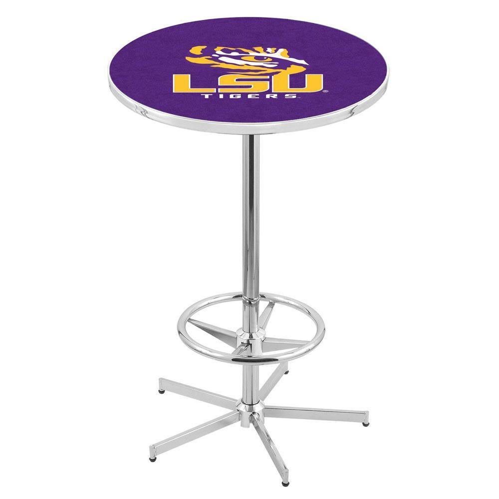 Chrome LSU Tigers Bar Table