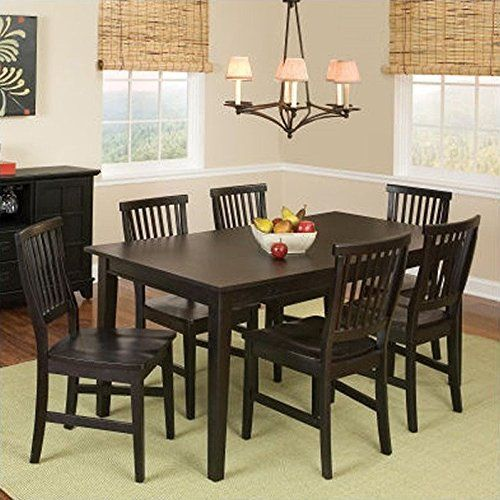 Home Style 5181 319 Arts And Crafts 7 Piece Rectangular Dining Set