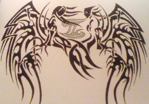 c1db0e050 lower back Gemini Tattoos for He | Tribal Gemini Tattoo | tattoos ...