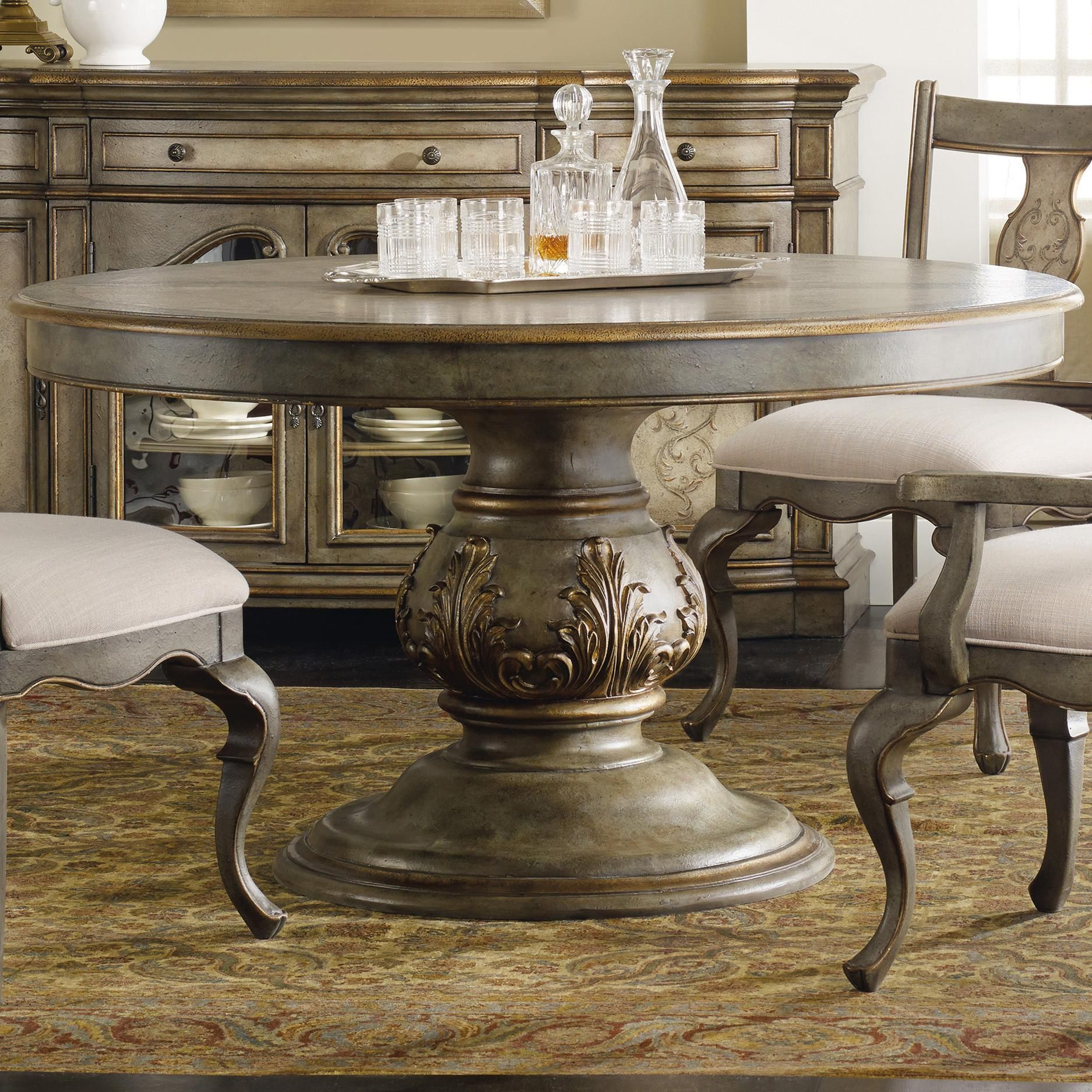 La Belle Inch Round Dining Table By Hooker Furniture Dining - 54 inch round dining room table