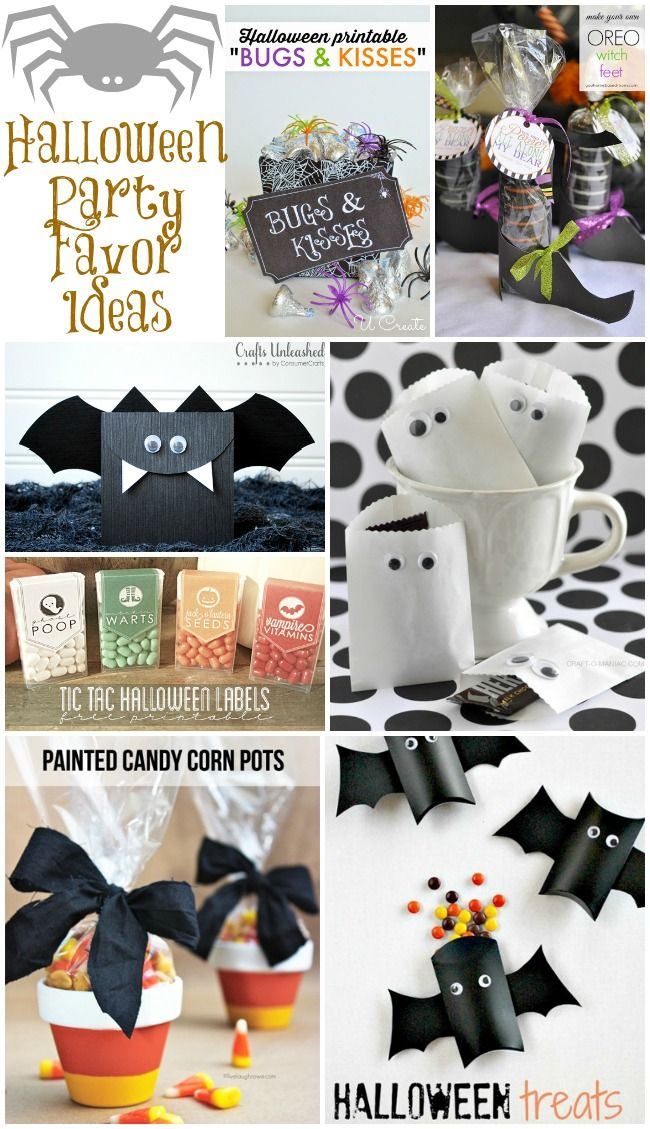 Halloween Party Favors (Collection Pinterest Party favour ideas - halloween party decoration ideas
