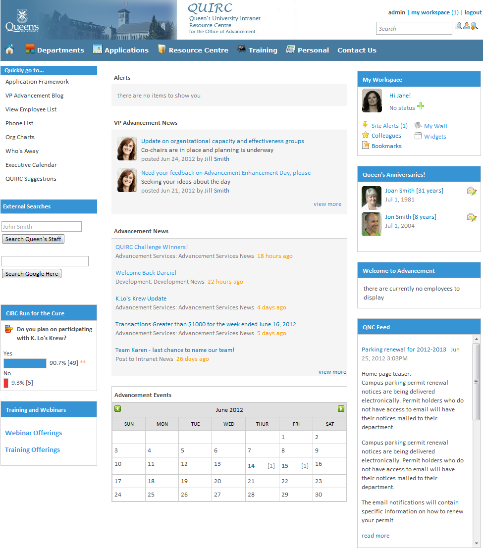 Pin By Ylva Betinakis On Intranet Sharepoint Sharepoint Intranet Queen S University