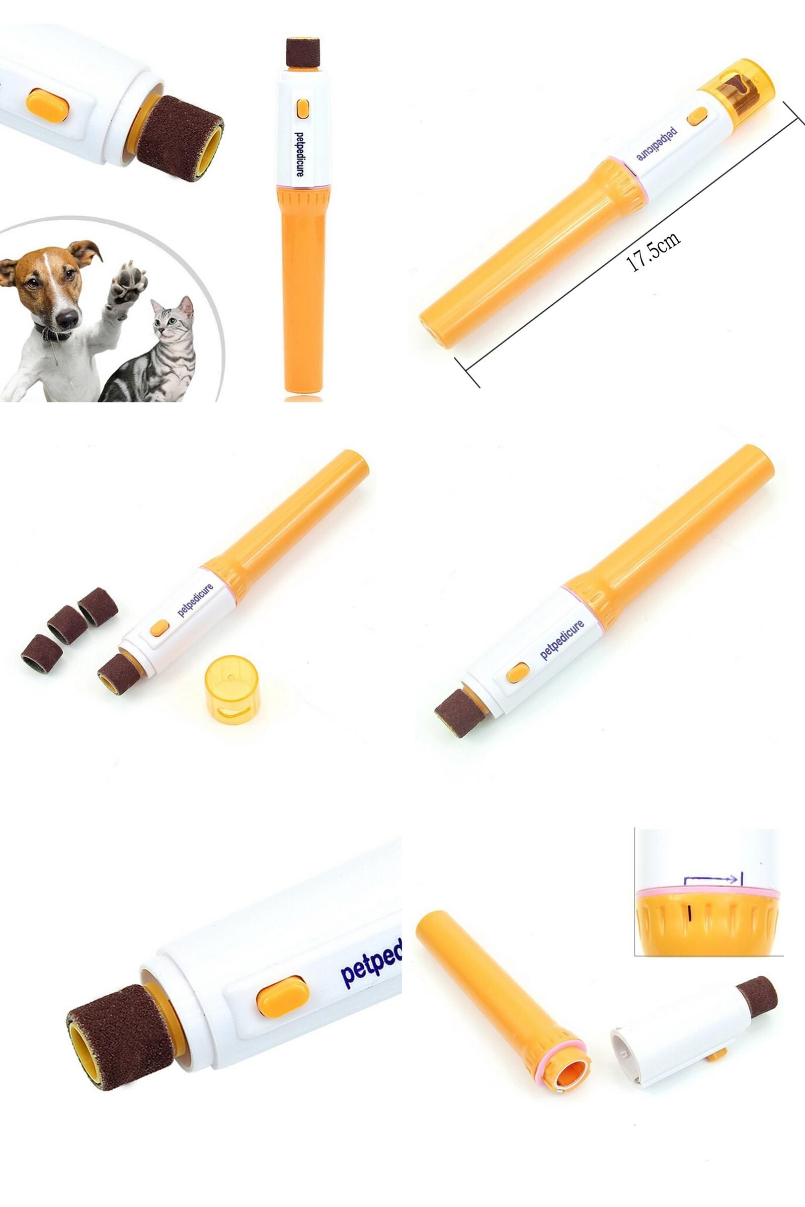 [Visit to Buy] Electric Pet Pedicure Nail Trimmer Pet Nail