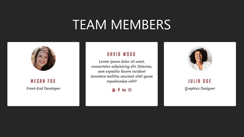 Bootstrap 4 Team Section With Card Flip Effect Html Css Teams Css