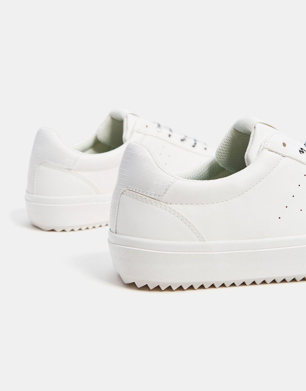 Zapatilla Monocolor Hombre Sneakers Shoes Top Sneakers