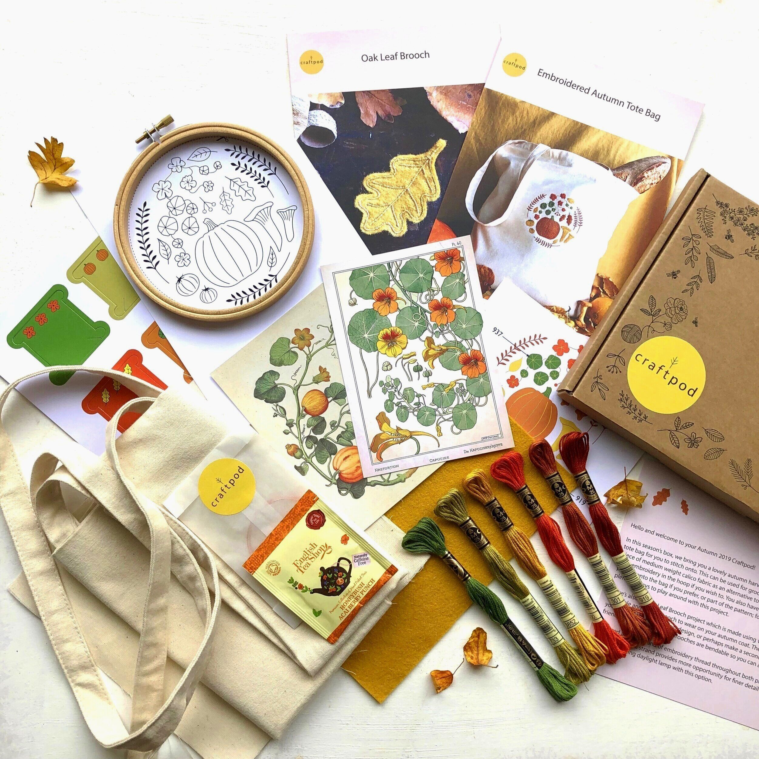 Craftpod Craft Subscription Box Sewing Baking And Other Seasonal Surprises Craft Box Subscription Crafts Craft Subscription