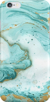 Turquoise Blue Watercolor Strokes iPhone Case & Cover