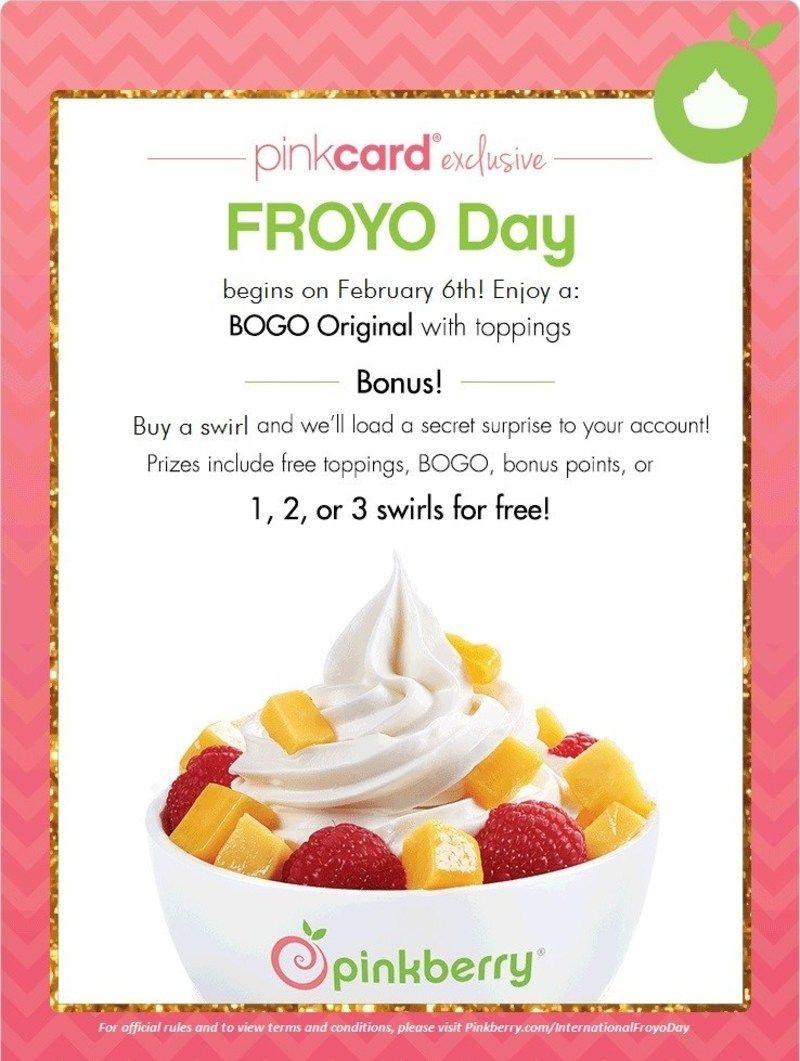 Pinkberry Celebrates National Frozen Yogurt Day with BOGO