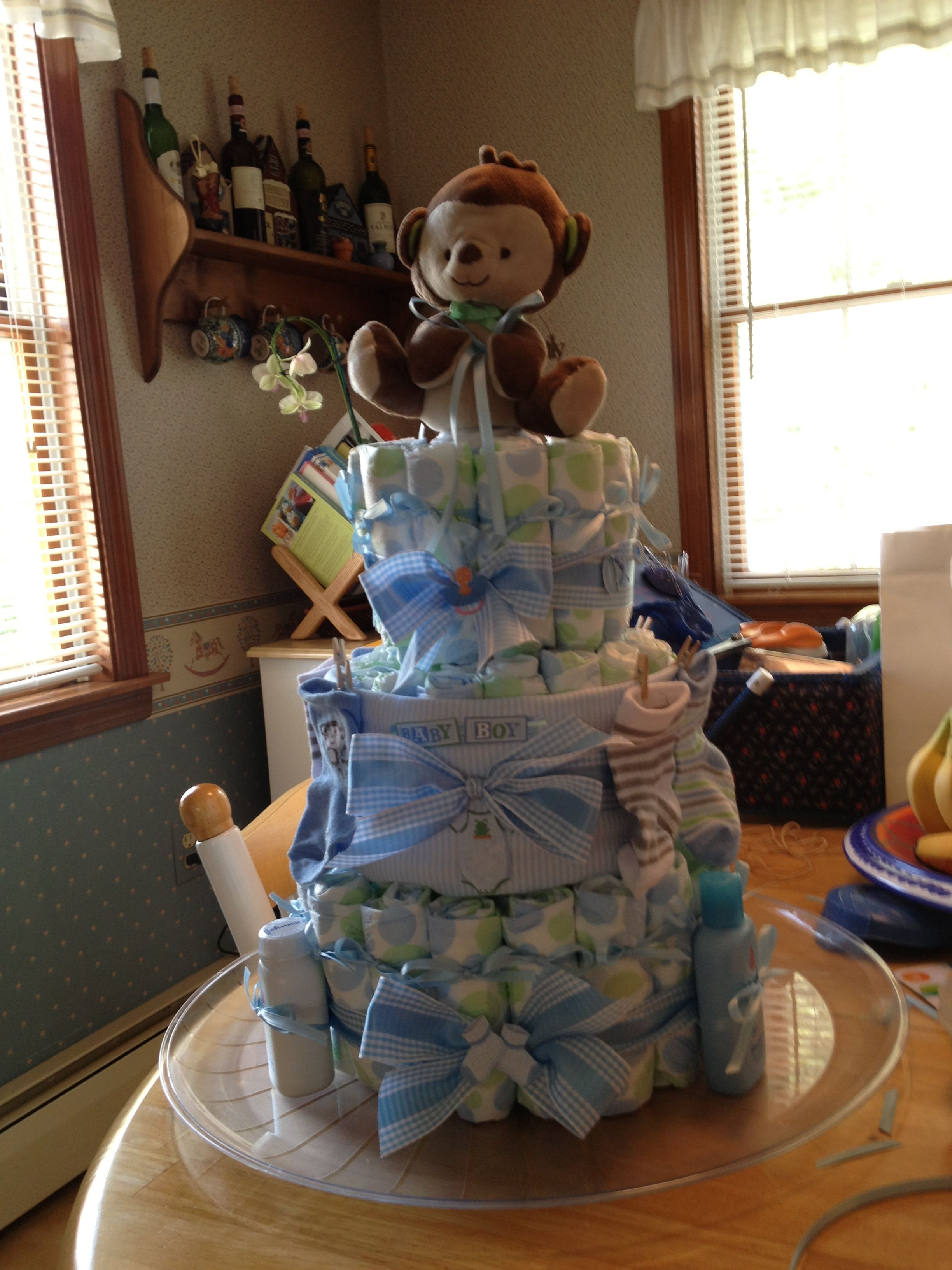 1st diaper cake that I made!!